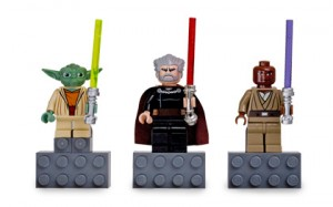 Yoda, Count Dooku, and Mace Windu