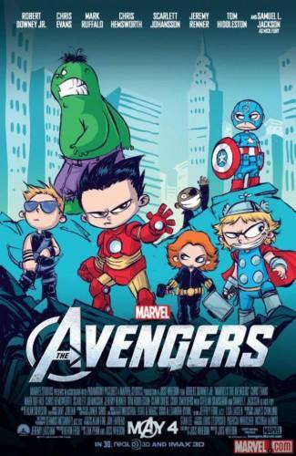 Skottie Young Avengers Poster