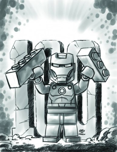 Iron Man #17 - LEGO Sketch Variant
