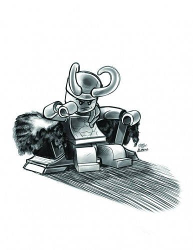Thor God Of Thunder #14 -LEGO Sketch Variant