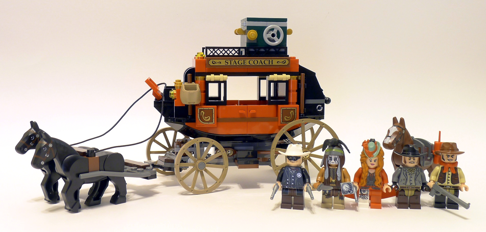 LEGO The Lone Ranger Review: 79108 Stagecoach Escape | From Bricks ...