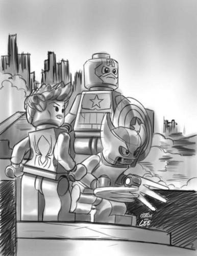 Uncanny Avengers #12 - LEGO Sketch Variant