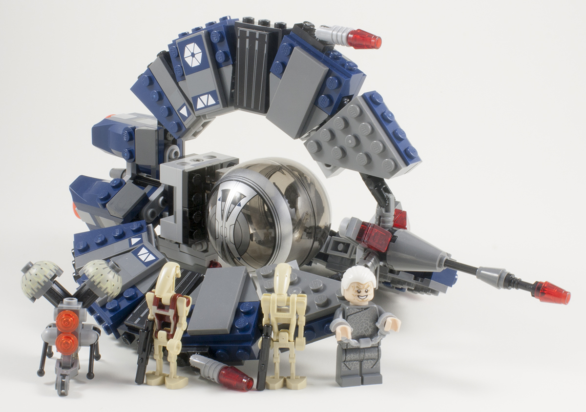 Lego star wars forum from bricks to bothans view topic review 75044 droid tri fighter - Lego star wars base droide ...