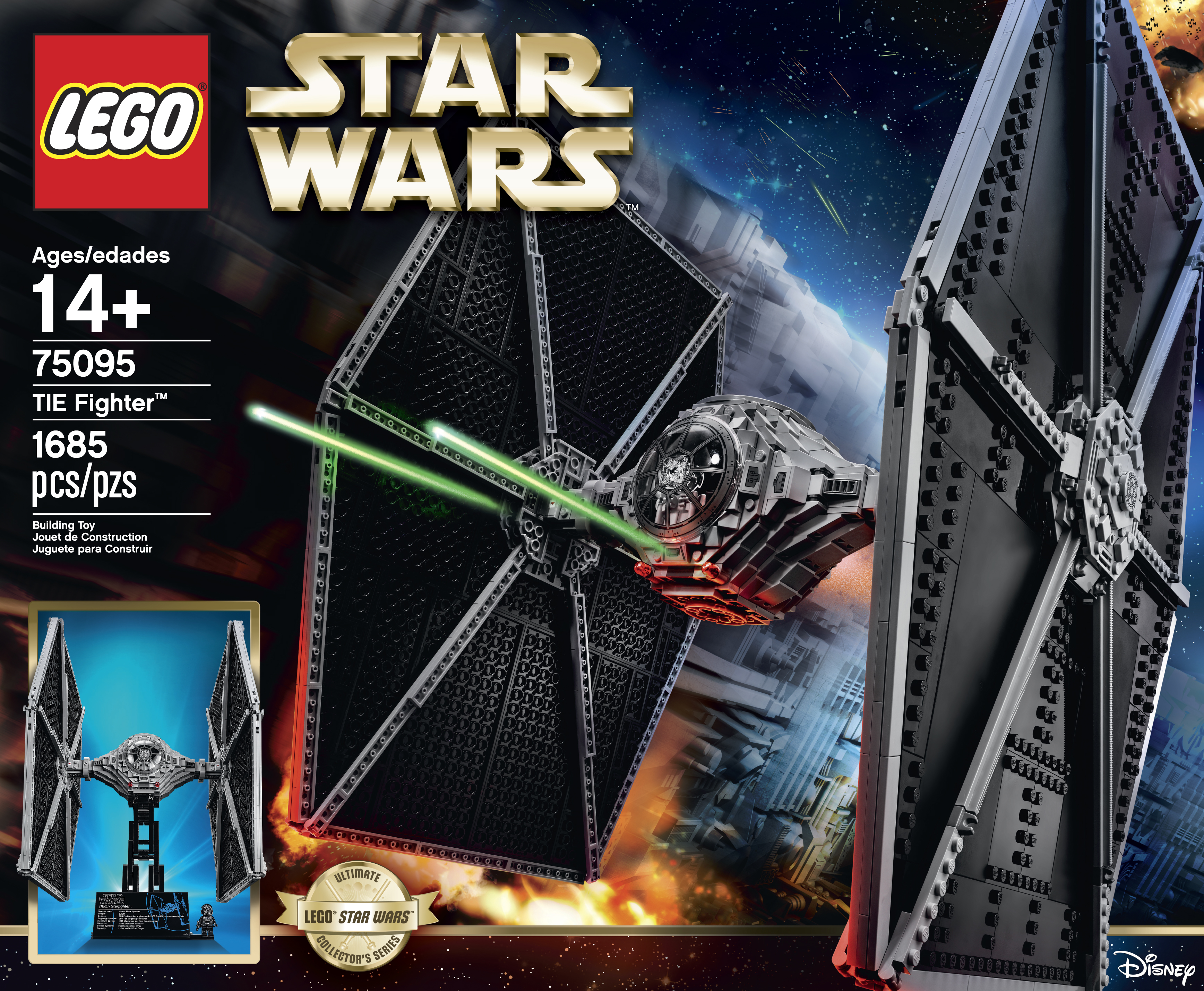 lego star wars forum from bricks to bothans view topic lego announces 75095 ucs tie. Black Bedroom Furniture Sets. Home Design Ideas