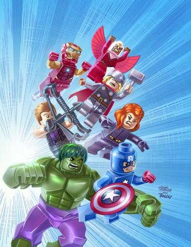 Marvel Universe Avengers Assemble #1 - LEGO Variant Cover