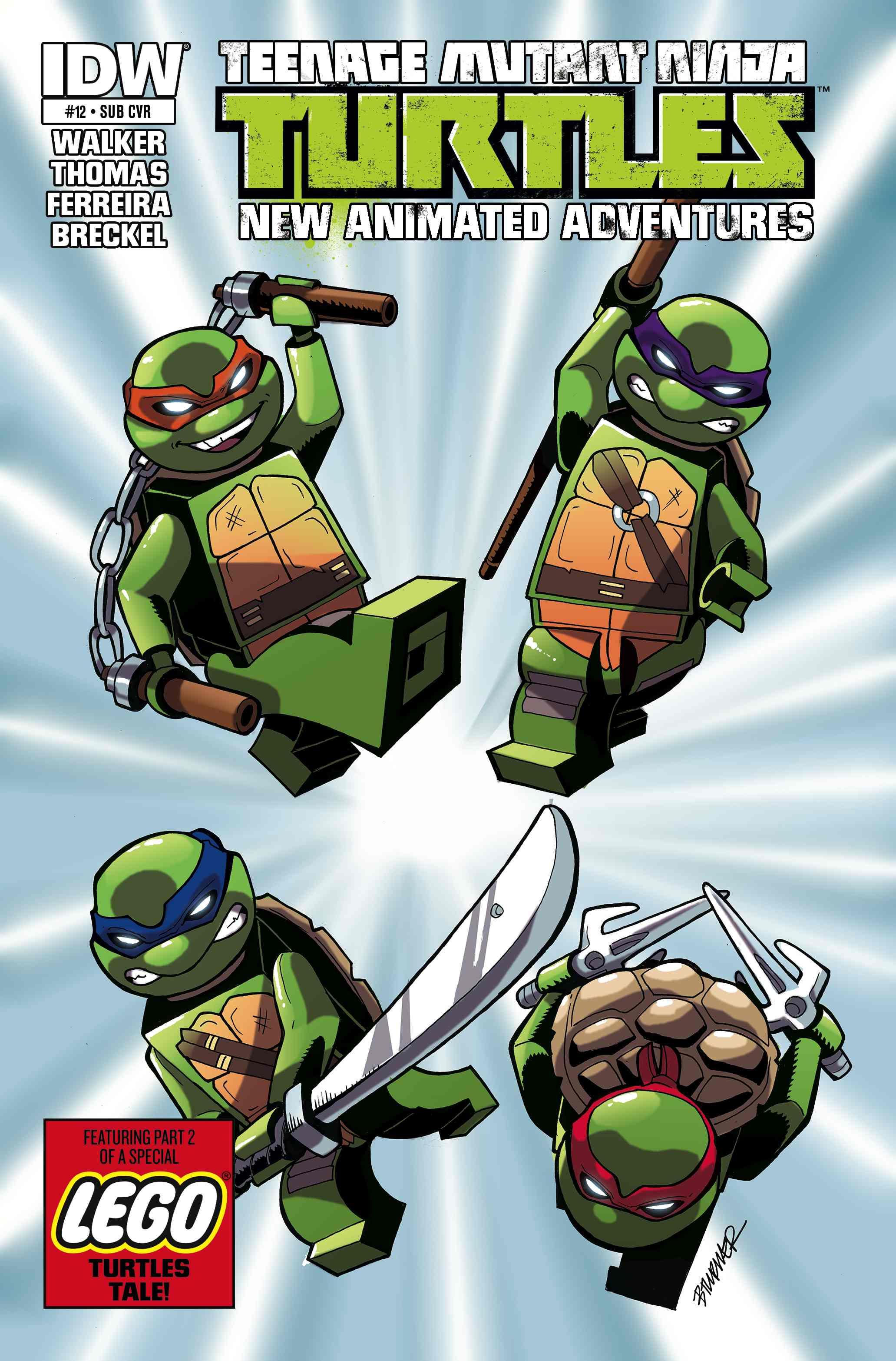 Teenage Mutant Ninja Turtles Lego Variant Comic Cover Fbtb