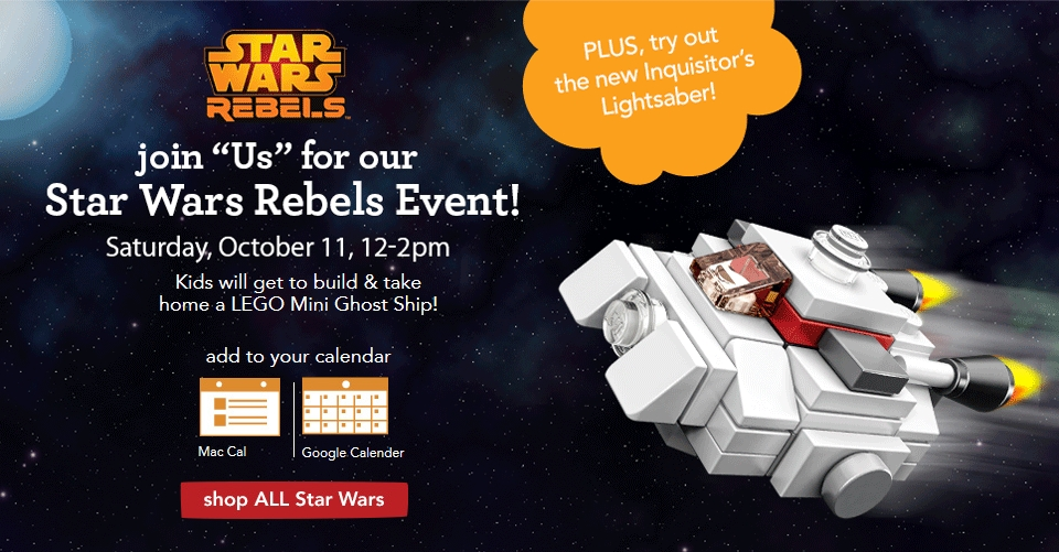 Toys R Us Build And Take Star Wars Rebels Event This Saturday 10 11 Fbtb