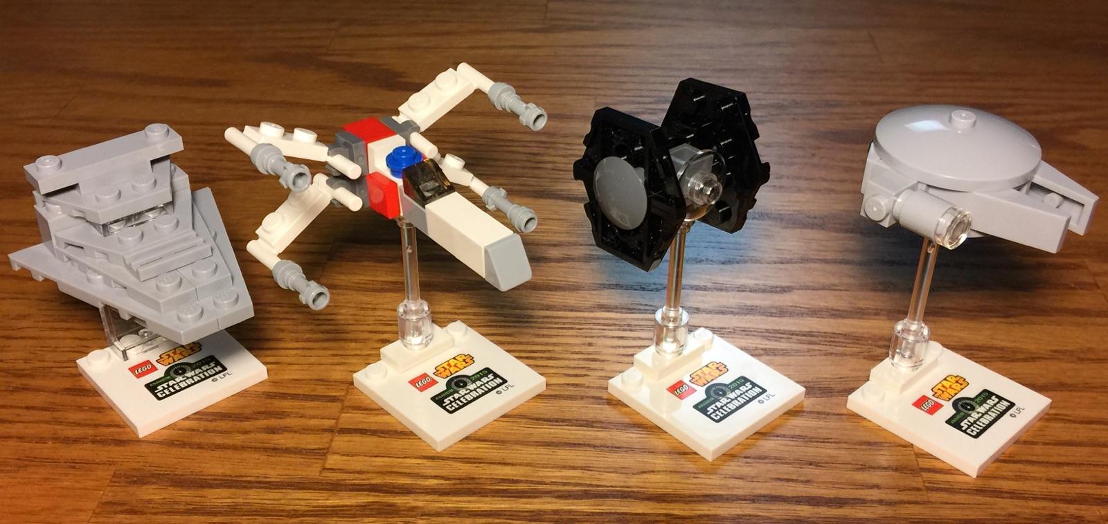 Star Wars Celebration  Exclusives Lego Mini Builds