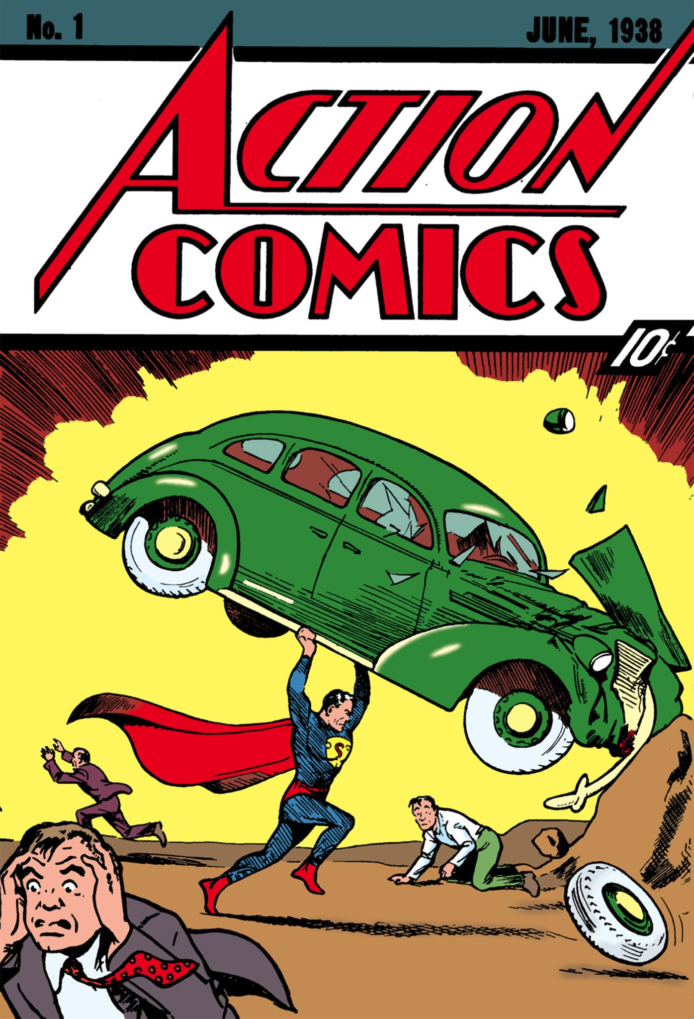 Superman Action Comic Covers Set of 4 Coasters