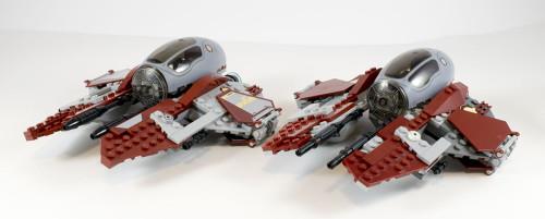 75135 Jedi Interceptor vs. Custom Interceptor