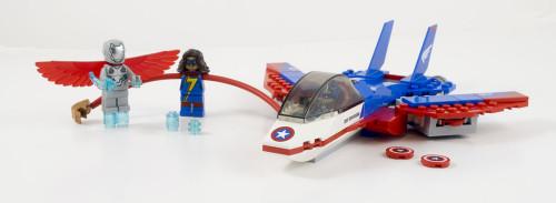 76076 Captain America Jet Pursuit Full Set