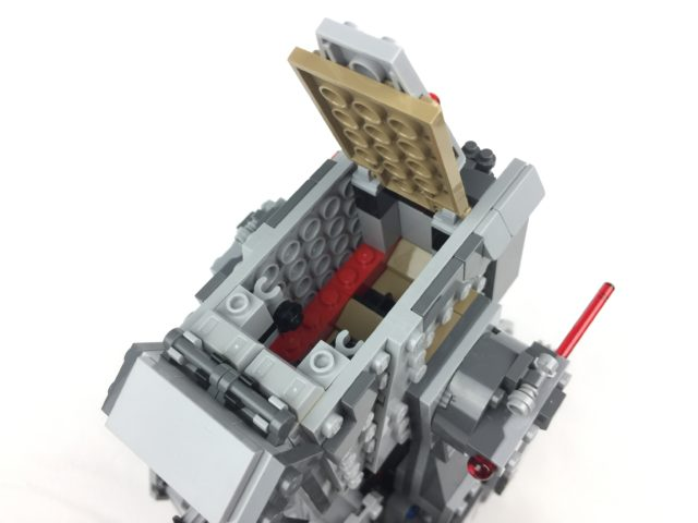 First Order Heavy Scout Walker empty cockpit