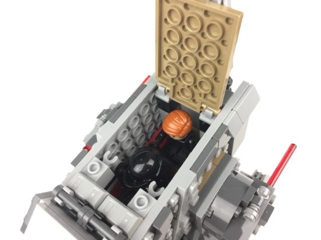 First Order Heavy Scout Walker cockpit with minifigs
