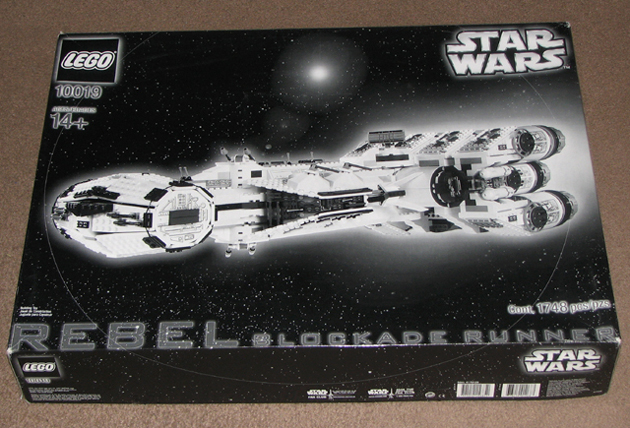 10019 Rebel Blockade Runner black and white box