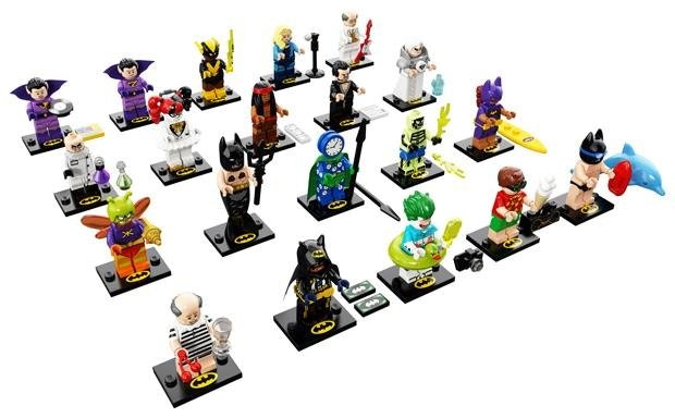 Printed plates for Batman CMF 2