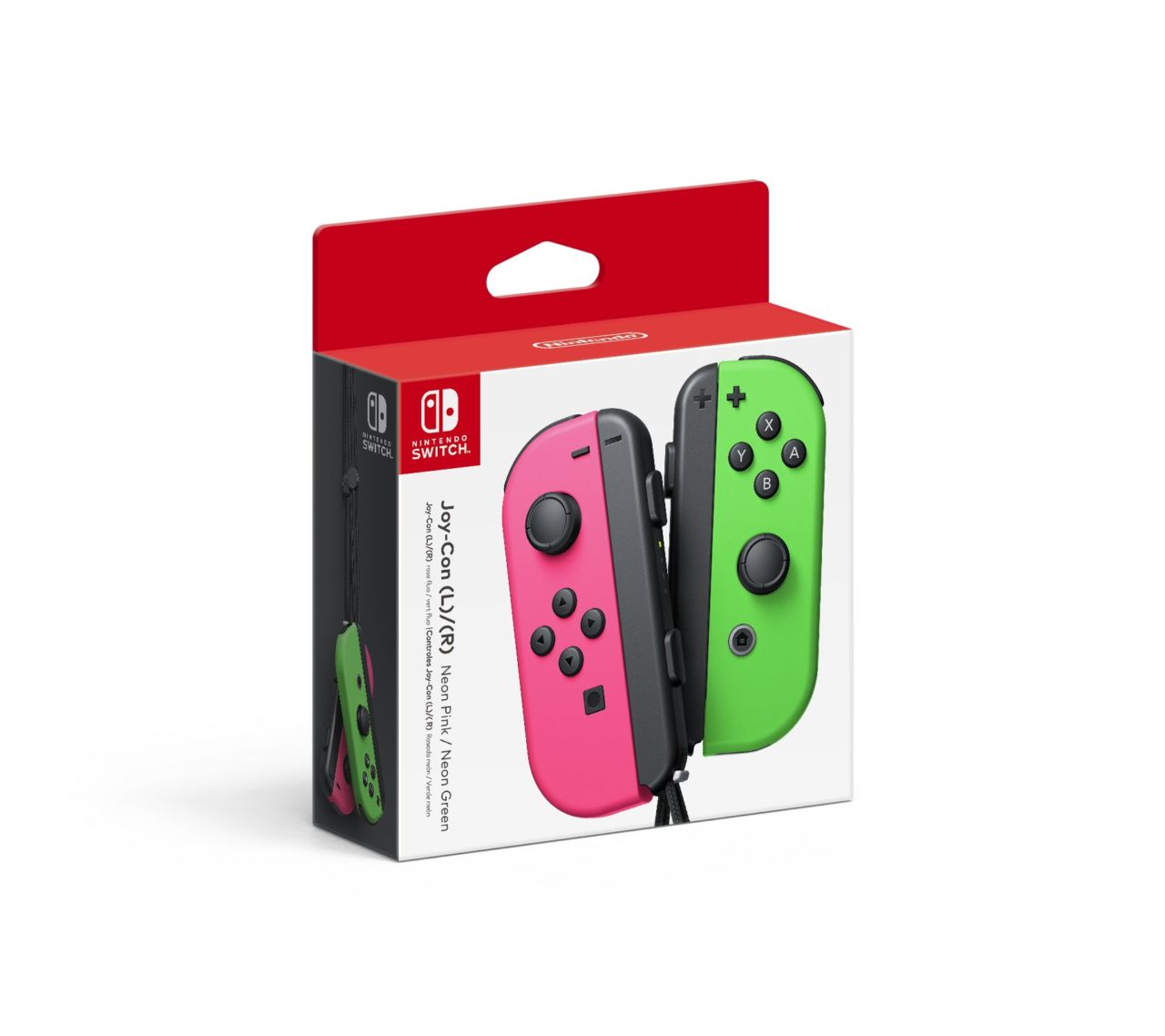 Pink (L) and Green (R) Joy-cons