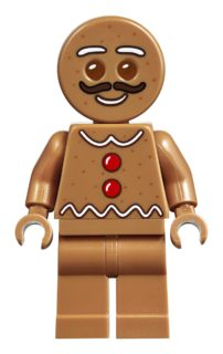 Mustachioed LEGO Gingerbread Man