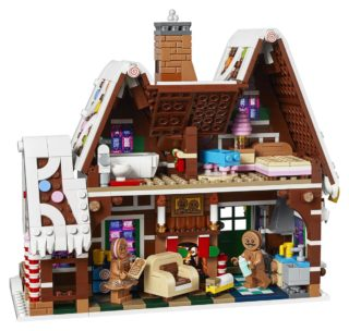 LEGO Gingerbread House back