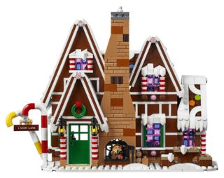 LEGO Gingerbread House front 1