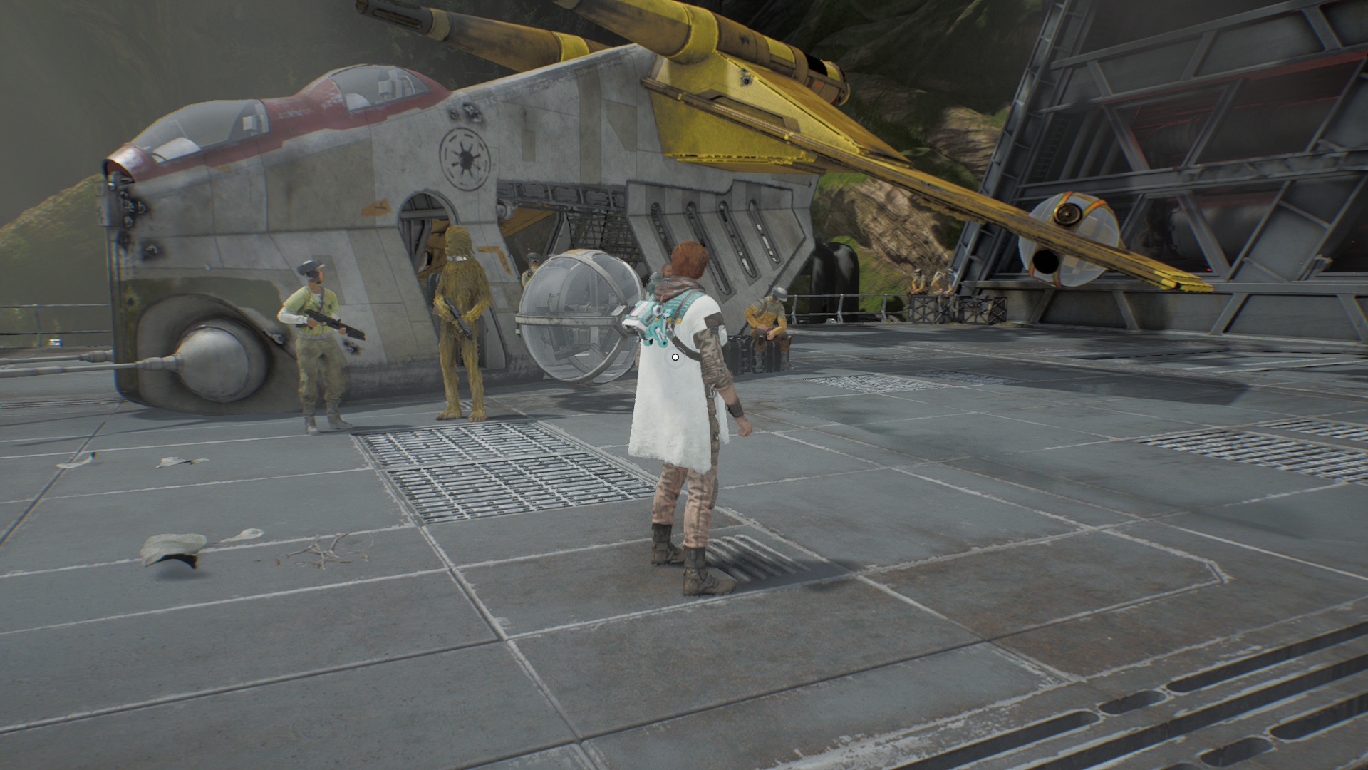 Review Star Wars Jedi Fallen Order Fbtb Head around to the right and you'll be able to jump on to a rail on the bottom of the hanging platform. review star wars jedi fallen order